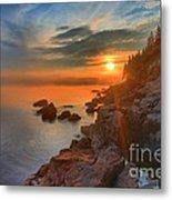 Bass Harbor Sunset Metal Print