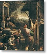 Bassano, Leandro 1557-1622. The Return Metal Print