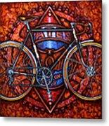 Bates Bicycle Metal Print by Mark Howard Jones