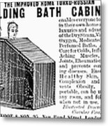 Bath Cabinet, 1897 Metal Print