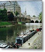 Bath Canal Metal Print