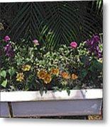 Bath Tub Flowers Metal Print