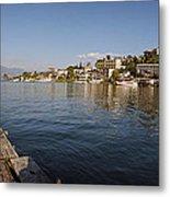 Bathing At Lake Atitlan Metal Print