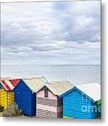 Bathing Huts Brighton Beach Melbourne Australia Metal Print by Colin and Linda McKie