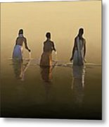 Bathing In The Holy River By Dominique Amendola Metal Print