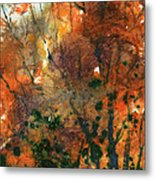 Batik Style/new England Fall-scape No.34 Metal Print