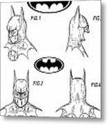 Batman Face Guard Metal Print