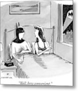 Batman In Bed With Woman After Having Sex Metal Print