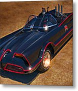 Batmobile Metal Print by Tommy Anderson