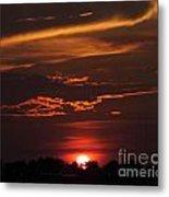 Baton Rouge Sizzling Sunday Sunset  Metal Print