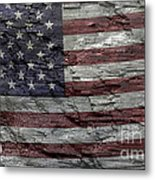 Battered Old Glory Metal Print