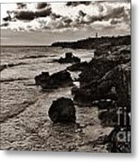 Battered Shore Metal Print