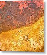 Battered To Rust Metal Print