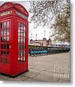 Battersea Phone Box Metal Print