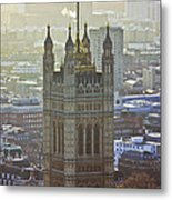 Battersea Power Station And Victoria Tower London Metal Print