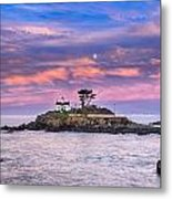 Battery Point Lighthouse And Moon Metal Print