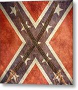 Battle Flag Civil War Confederate States Metal Print
