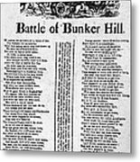 Battle Of Bunker Hill Metal Print