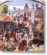 Battle Of Nevilles Cross 1346 Metal Print