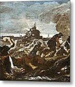 Battle Of Saint-quentin Metal Print