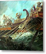Battle Of Salamis, 480 Bce Metal Print