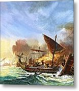 Battle Of Salamis Metal Print