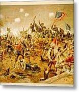 Battle Of Spotsylvania Thure De Thulstrup Metal Print