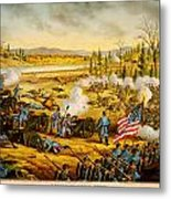 Battle Of Stones River Metal Print