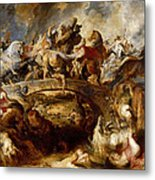 Battle Of The Amazons Metal Print