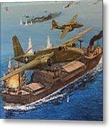 Battle Of The Bismark Sea Metal Print