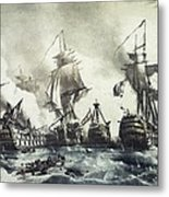 Battle Of Trafalgar, 21st October 1805 Metal Print