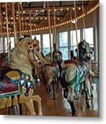 Battle Ship Cove Carousel Metal Print