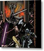 Battle With The Mage-king Metal Print