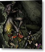 Battle With The Taratulamon King Metal Print