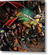 Battle With The Undead Dragon Metal Print