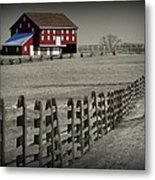 Battlefield Barn Metal Print