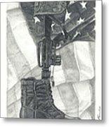 Battlefield Cross Metal Print