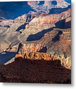Battleship Rock At The Grand Canyon Metal Print