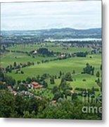 Bavarian Green Valley Metal Print