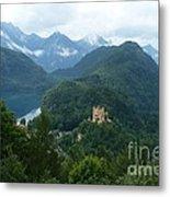 Bavarian Lake With Castle Metal Print