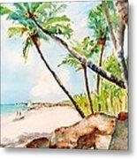 Bavaro Tropical Sandy Beach Metal Print