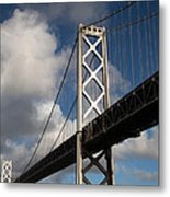 Bay Bridge After The Storm Metal Print