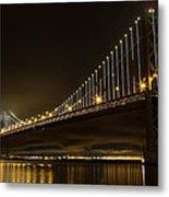 Bay Bridge And Fog  Metal Print