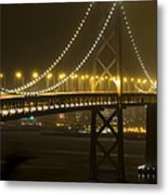 Bay Bridge Fog Metal Print