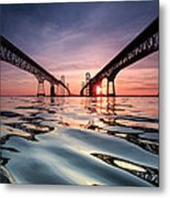 Bay Bridge Reflections Metal Print by Jennifer Casey