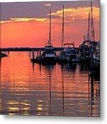 Bay Bridge Sunset Metal Print