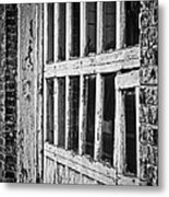 Bay Door In B/w Metal Print