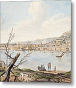 Bay Of Naples From Sea Shore Metal Print