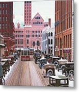 Bay Street Christmas Eve 1924 Metal Print