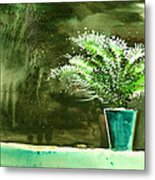 Bay Window Plant Metal Print